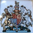 Coat of arms with helmet & mantling, special hand-painted, 30 inches