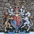 Coat of arms with helmet & mantling, special hand-painted, 60 inches