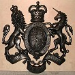 Coat of arms without helmet & mantling, cold cast metal effect, 36 inches
